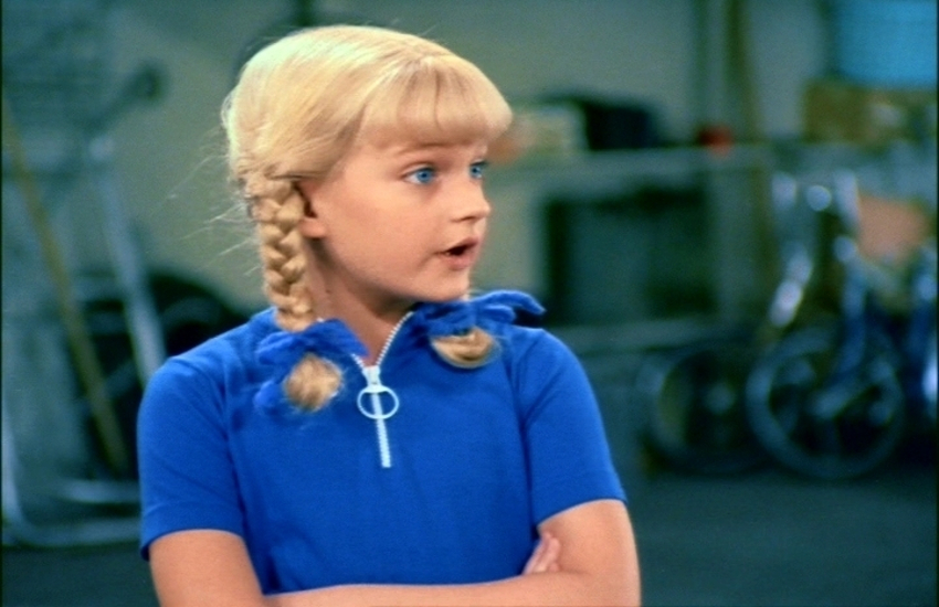 Susan Olsen as she appeared in The Brady Bunch which aired 1969-74.