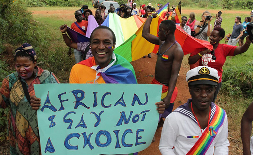 A previous Uganda Pride march in 2015