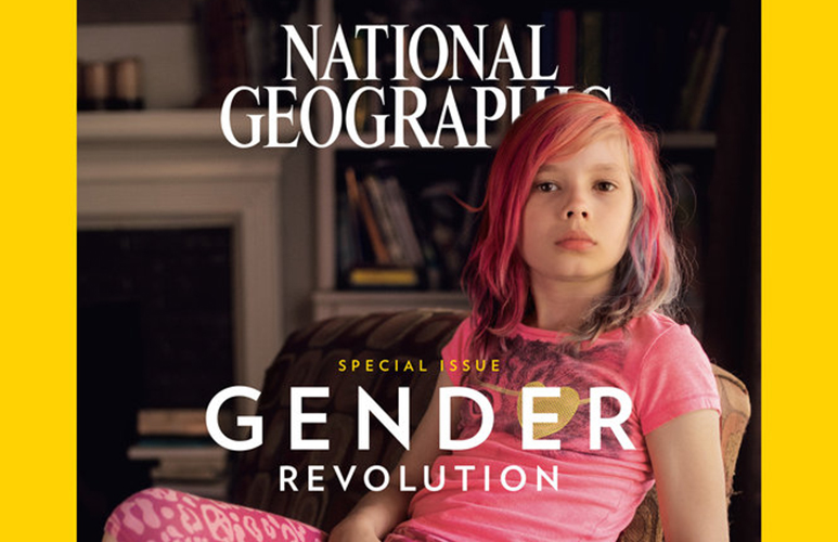 Avery Jackson on the cover of January 2017's National Geographic