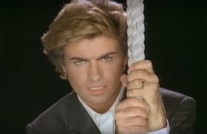 George Michael in the video for Careless Whisper