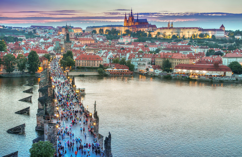 Prague, the capital of the Czech Republic, is home to 1.5 million people