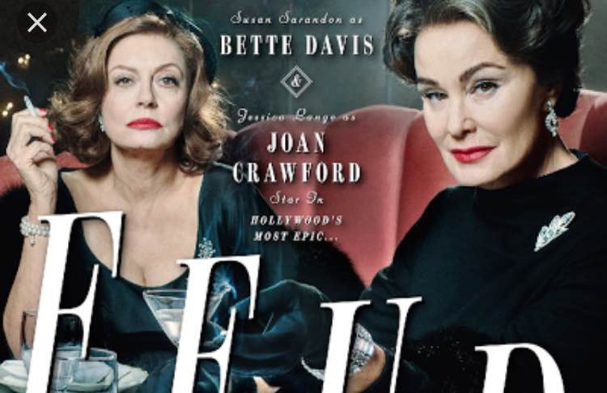 Susan Sarandon is Bette Davis and Jessica Lange is Joan Crawford in Feud.