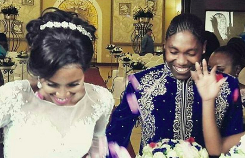 Olympic champion Caster Semenya and her long-time partner tied the knot