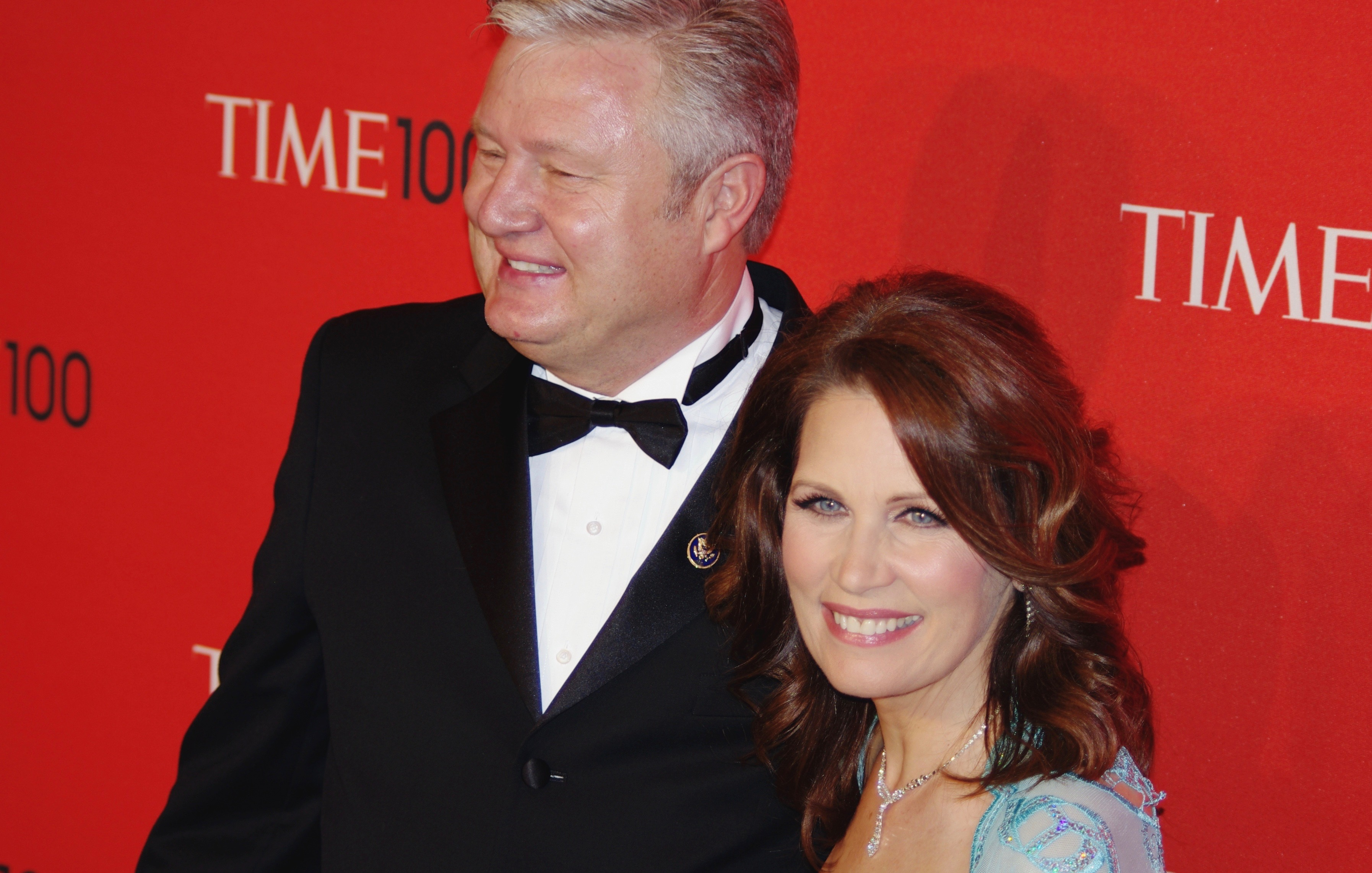 Former US Congresswoman Michele Bachmann with husband Marcus (right to left)