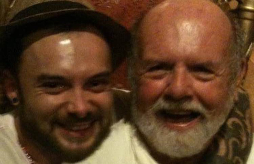 Christopher (left) and George Zander in happier times.