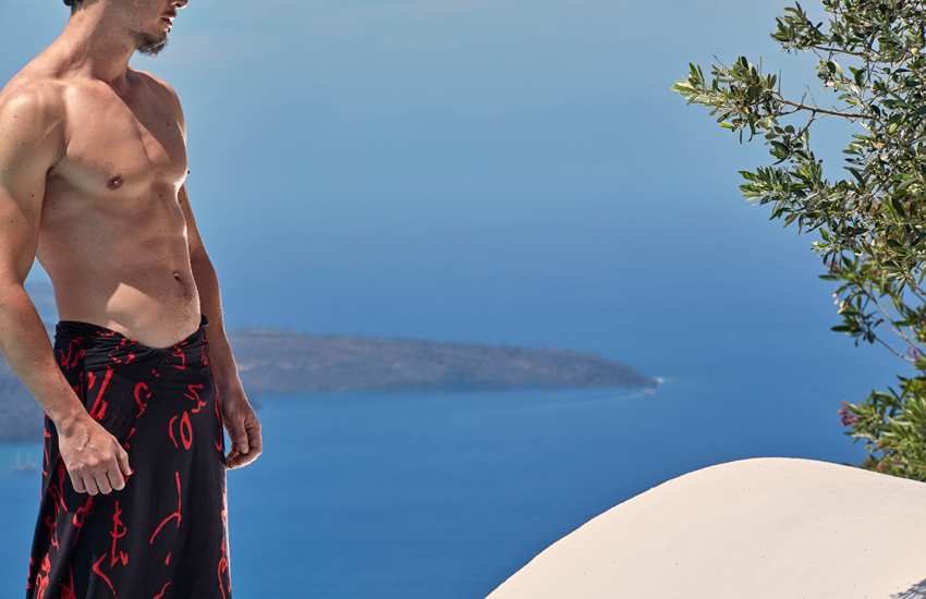 A photo taken by the top hotel photographer Christos Drazos during a Destsetters project in Santorini