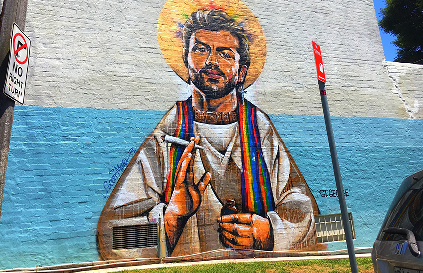 The George Michael mural in Sydney, by Stereogamous and Scott Marsh