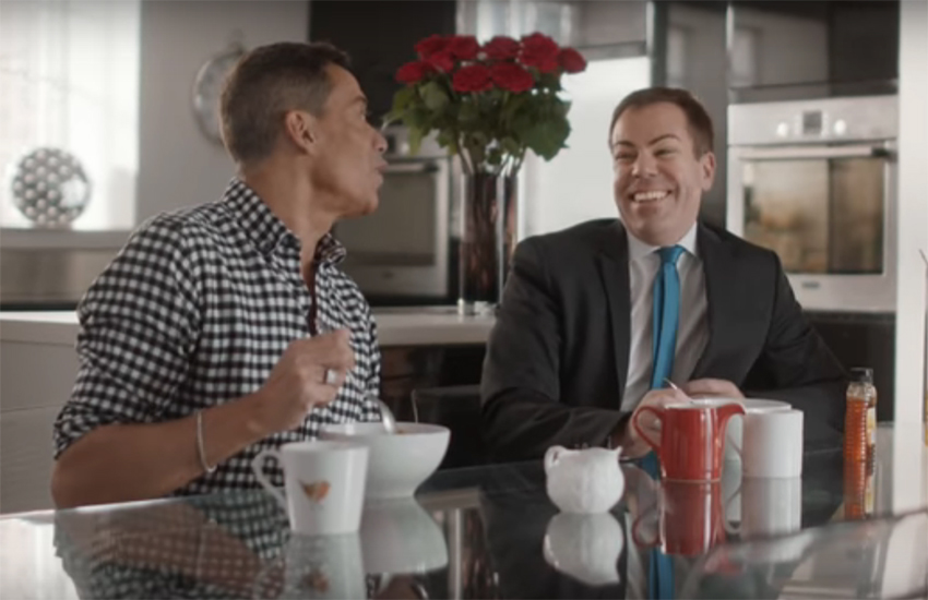 The Manchester couple in the Kellogg's advert have been together 22 years