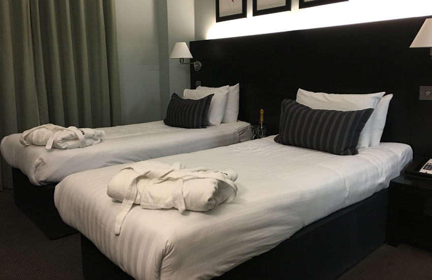 Our simple but stylish bedroom at the Nadler Liverpool