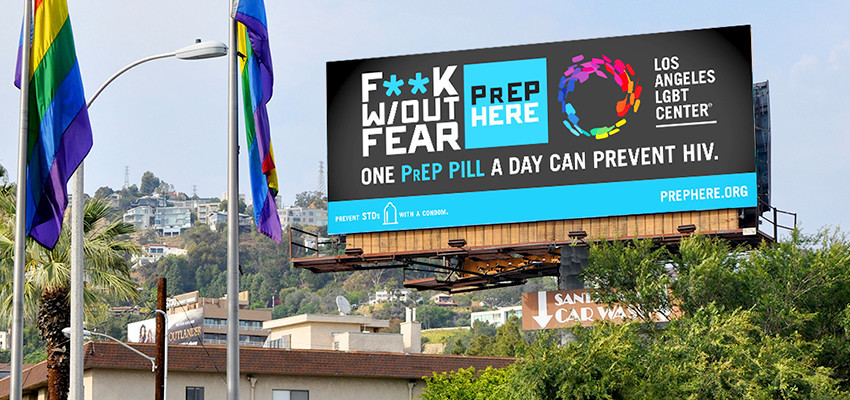 Rendering of billboard for new PrEP campaign.
