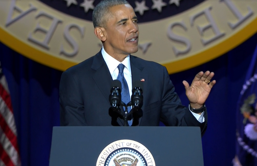 President Obama delivers his farewell speech in Chicago