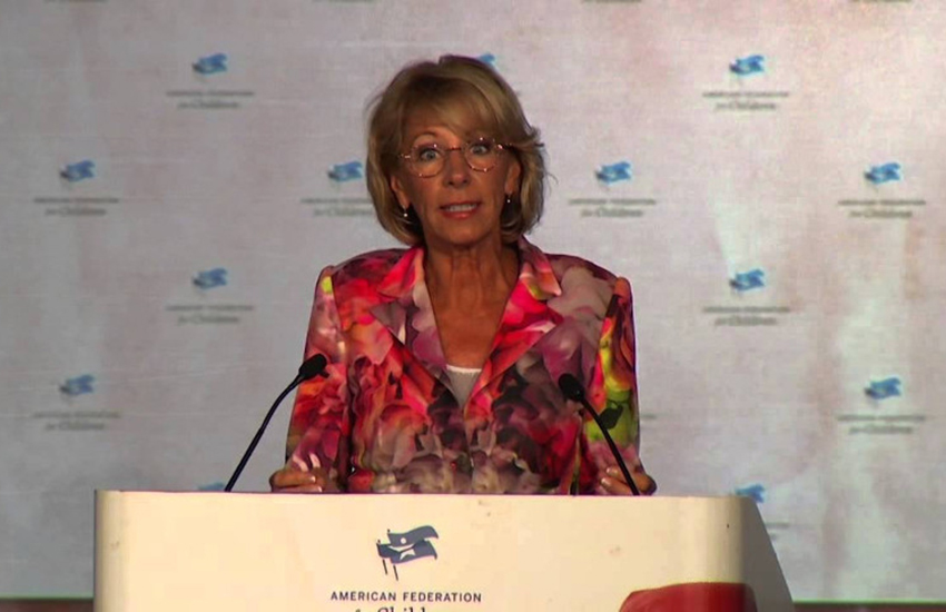 Betsy DeVos was a controversial pick for US Secretary of Education.