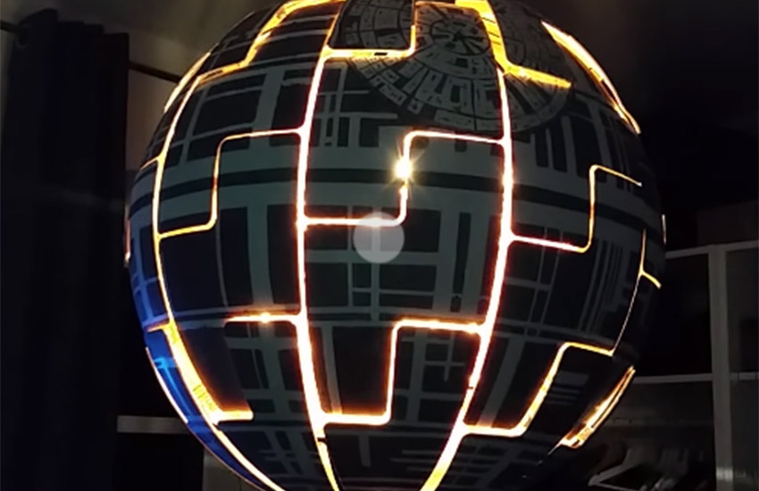 All it takes to create your on Death Star is an IKEA lamp and some acrylic paint