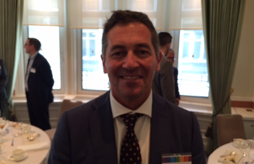 Randy Berry, the US LGBT envoy, at a business lunch in London.