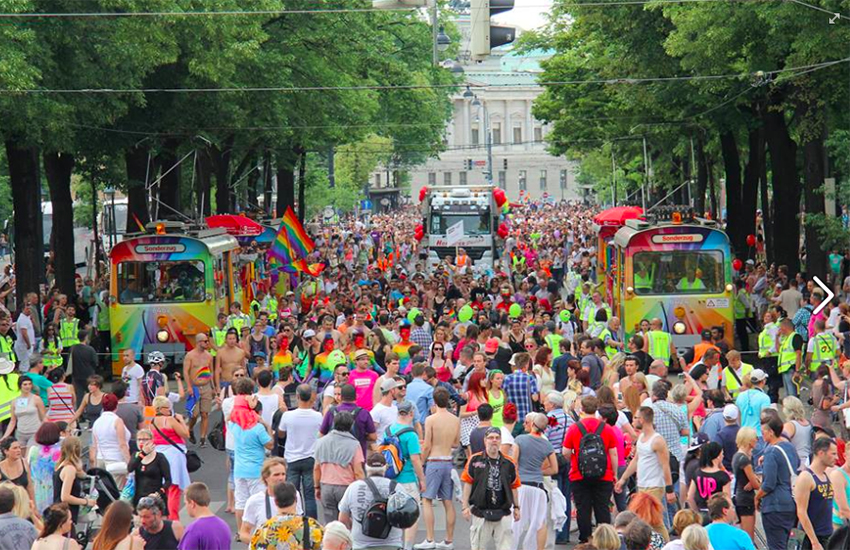 Every year, Vienna's rainbow parade takes over the city's ring road