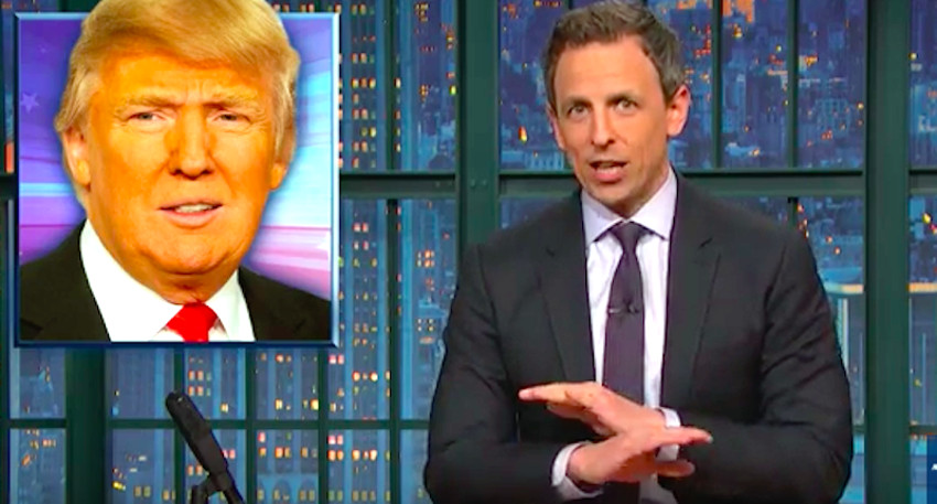 Seth Meyers has been a consistent critic of Donald Trump.