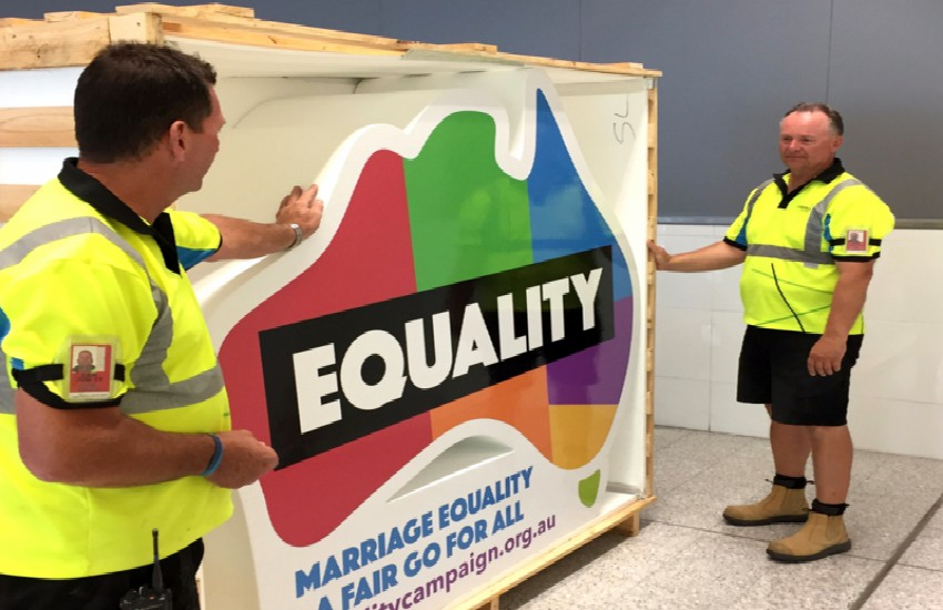 The new marriage equality campaign in Australia.