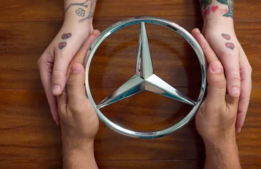 Mercedes Benz is one of many companies to feature same-sex couples in a Valentine's Day ad