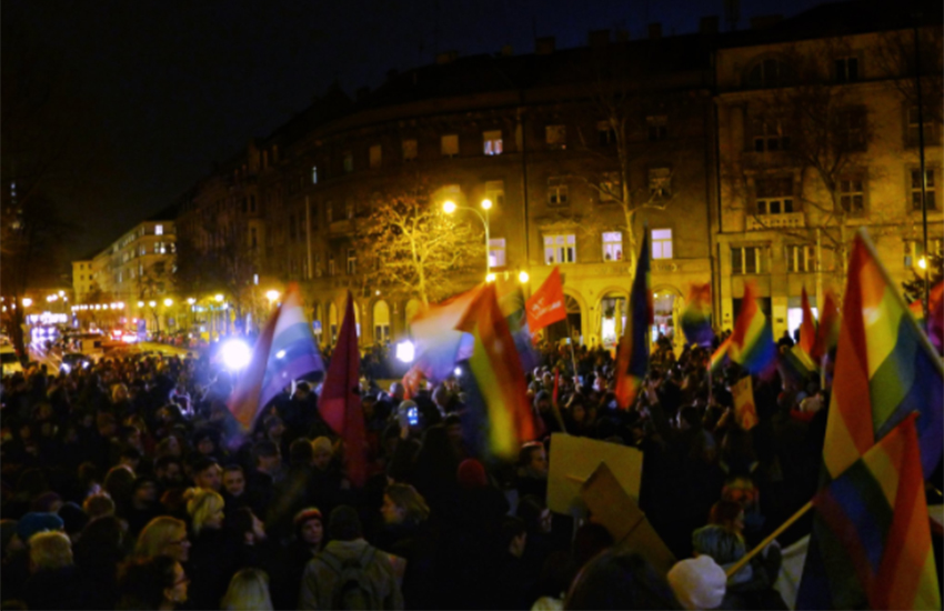 A thousand people assembled in Zagreb's Square of the Victims of Fascism