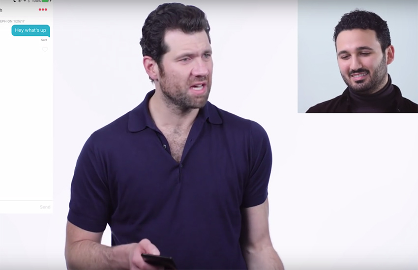 Billy Eichner takes over a gay man's Tinder profile