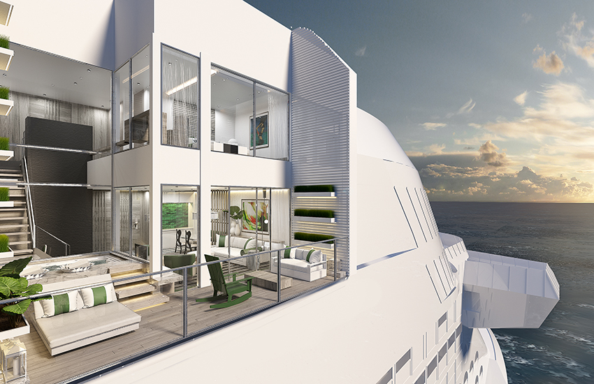 Celebrity Edge boasts new two-floor villas.