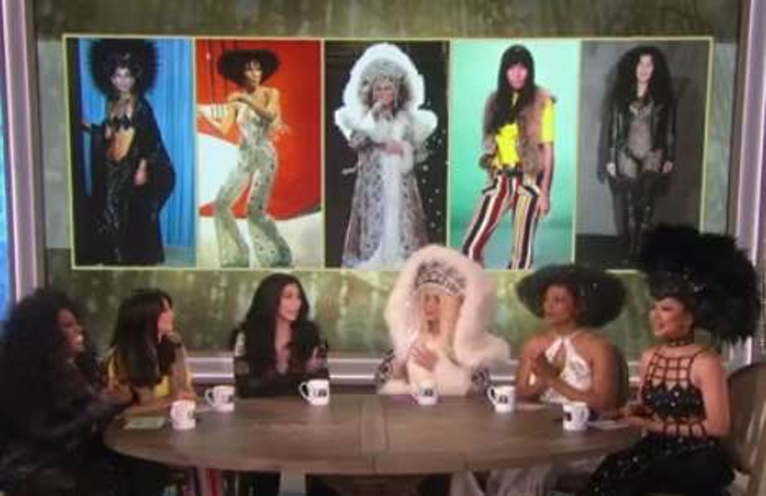 Cher makes her first appearance on The Talk.