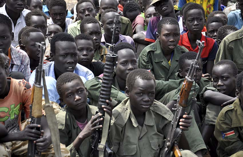 Children are forced to pick up guns in South Sudan