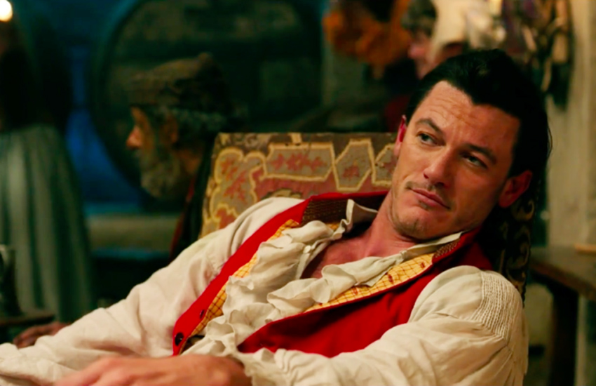Gaston is played by Luke Evans in Beauty and the Beast