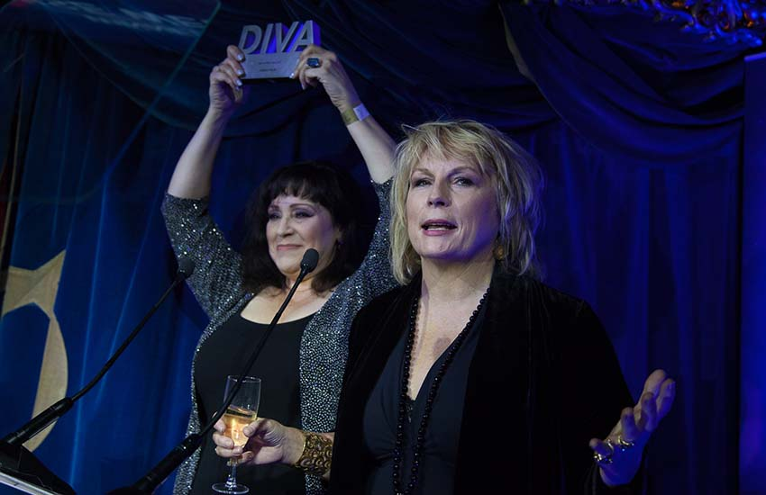 Jennifer Saunders presents Denise Welch with Ally of the Year