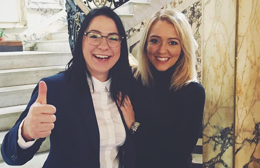 Lucy Spraggan and her wife Georgina are officially approved foster carers