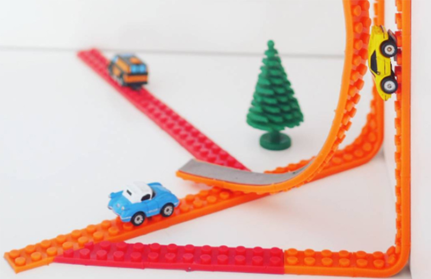 Nimuno Loops is a flexible tape turning everything into a LEGO play surface