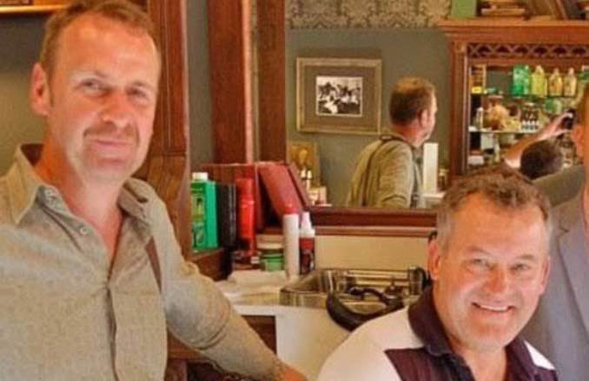 Paul Burrell (right) and his fiancee Graham Cooper.