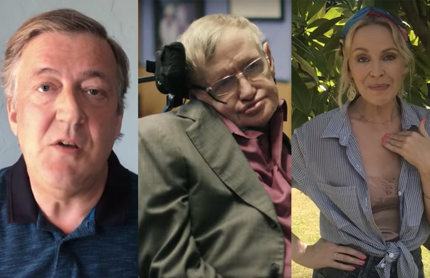 Stephen Fry and Kylie Minogue want to be Stephen Hawking's new voice