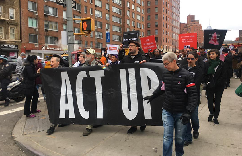 Act Up held a 30th anniversary yesterday in Manhattan, NYC