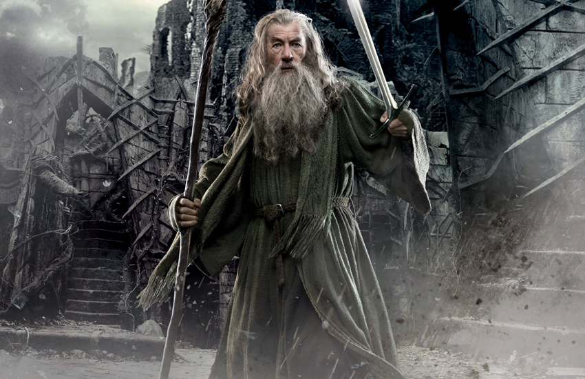 Sir Ian McKellen as Gandalf in The Hobbit: The Desolation of Smaug