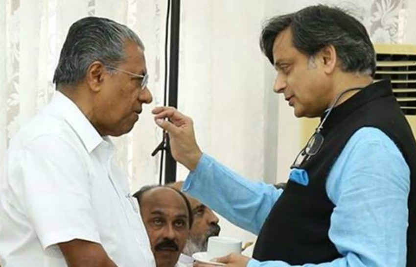 Dr. Shashi Tharoor meets with Kerala Chief Minister Pinarayi Vijayan to discuss amending Section 377 of the Penal Code