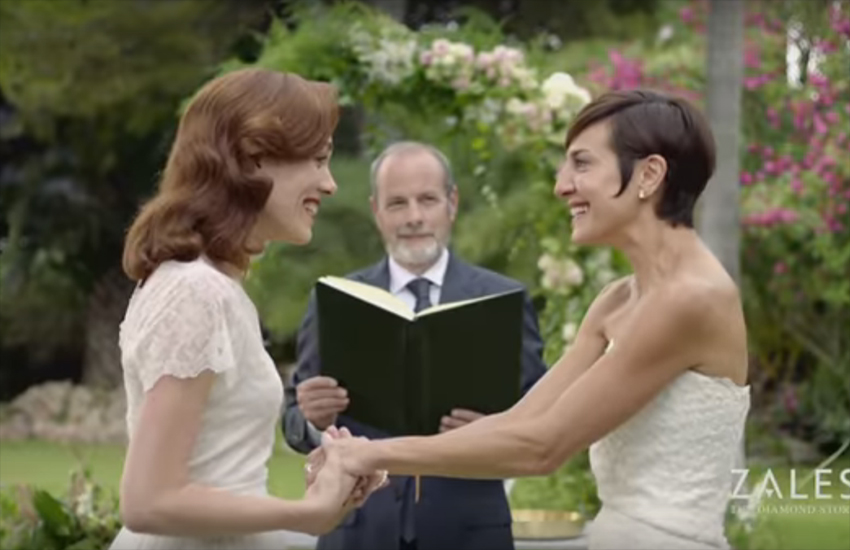 Zales featured a same-sex marriage couple in a 2016 campaign