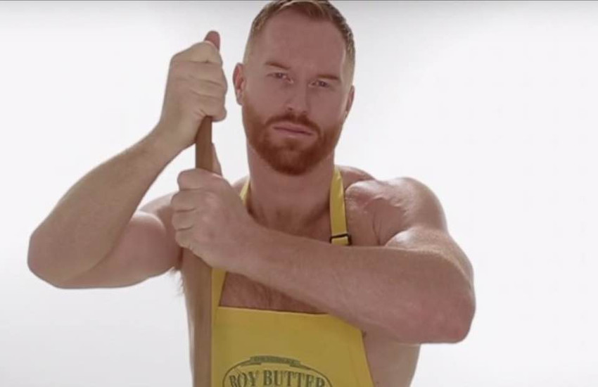 Seth Fornea is the star of a new commercial for lube company Boy Butter.