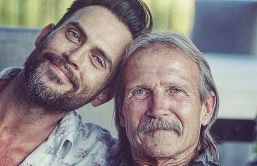 Cheyenne Jackson with his father David