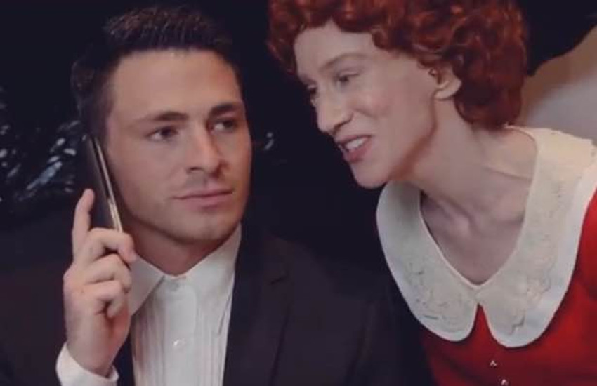 Colton Haynes and Kathy Griffin in the musical parody Grannie.