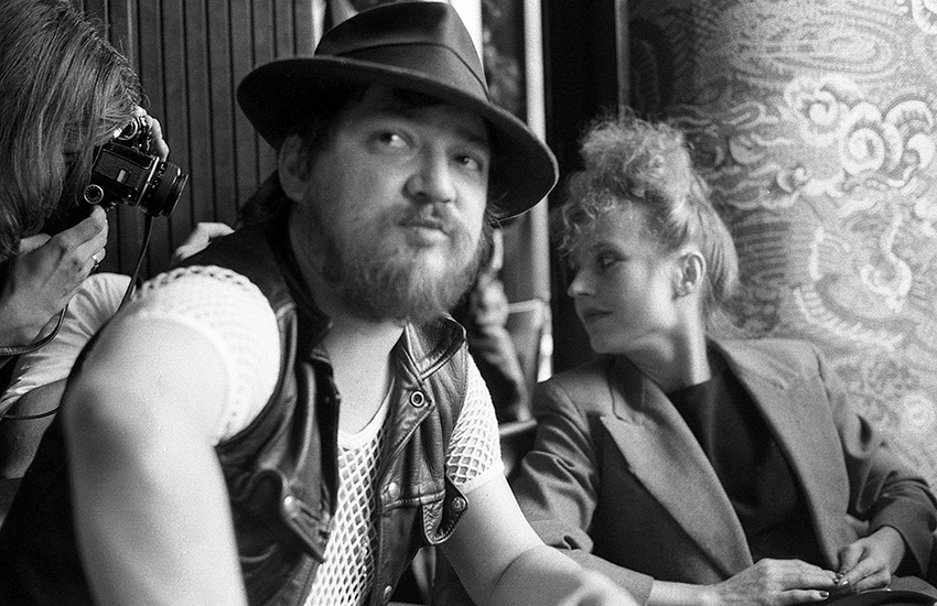 Rainer Werner Fassbinder and Hannah Schygulla, one of his most important actors