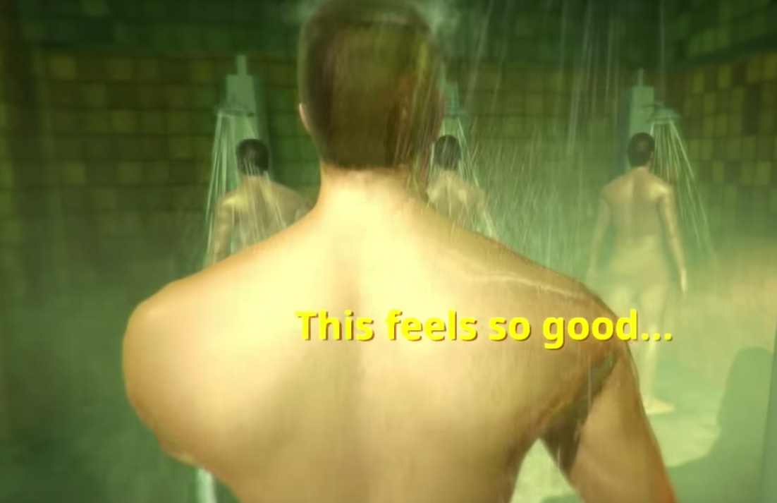 In Rinse and Repeat, you rub a guy's back before being rated on your performance