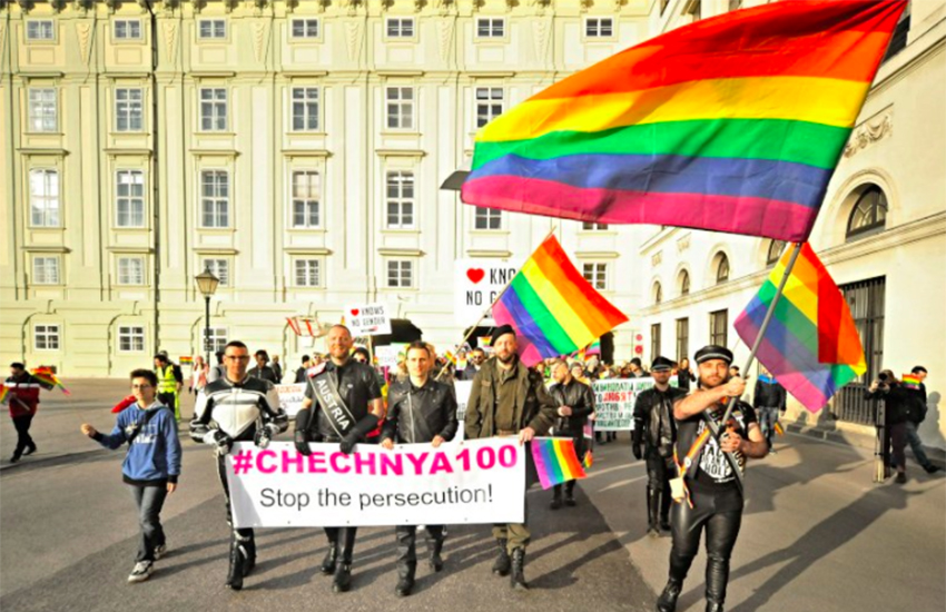 Hundreds came out in solidarity with the gay men in Chechnya earlier trhis month