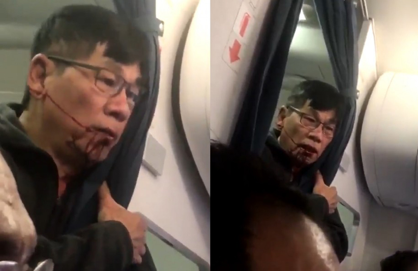 David Dao in footage shared to Facebook