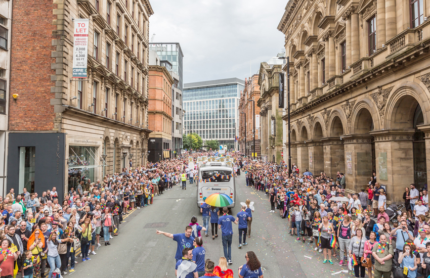The Manchester Pride Parade last year