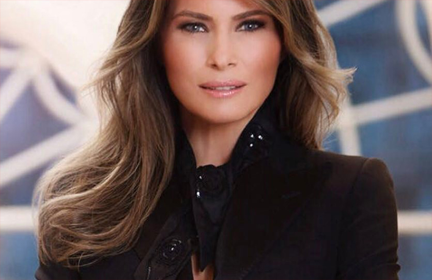 Melania Trump in her first official White House portrait