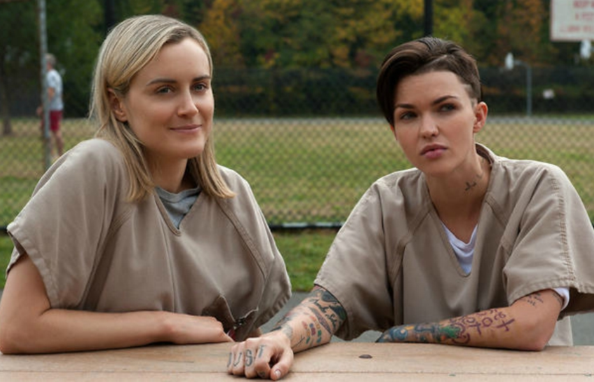 Orange is the New Black characters Piper and Stella
