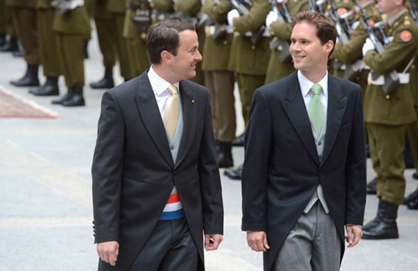 Xavier Bettel and Gauthier Destenay meet with the Pope