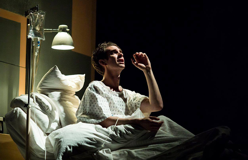Andrew Garfield as Prior Walter in the London revival of Angels in America