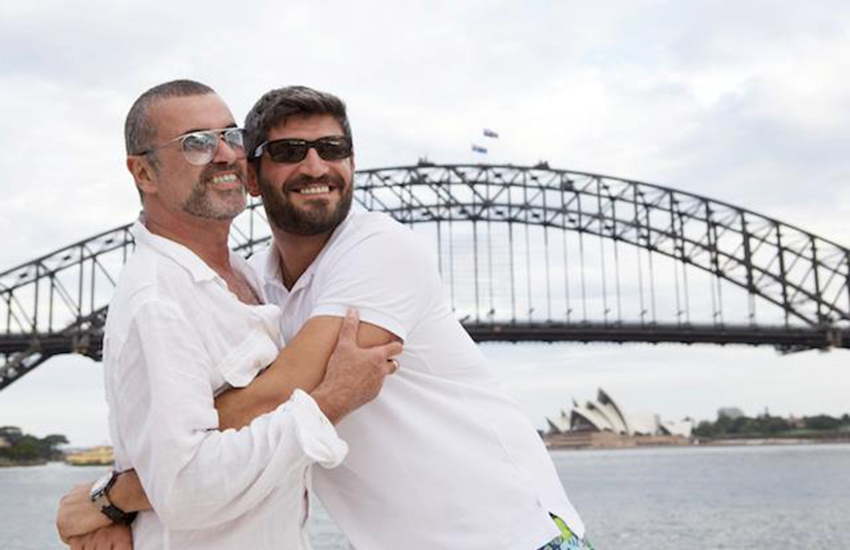 George Michael and his boyfriend, photographer Fadi Fawaz